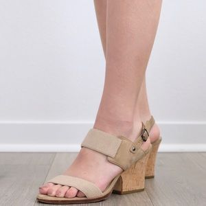 Eileen Fisher Plex Stretch Wedge Sandal Linen